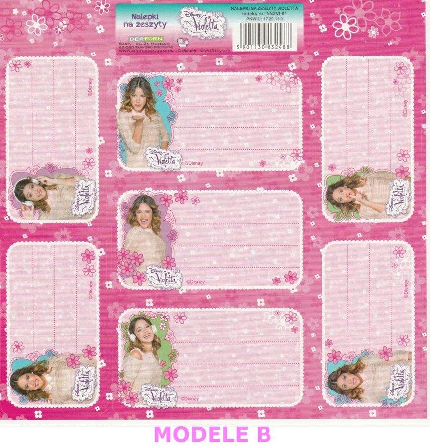 Super Etiquettes Scolaire Autocollantes Disney Violetta UP04