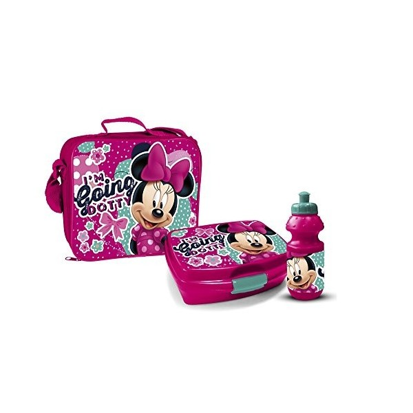 sac isotherme minnie mouse avec bo te go ter et gourde. Black Bedroom Furniture Sets. Home Design Ideas
