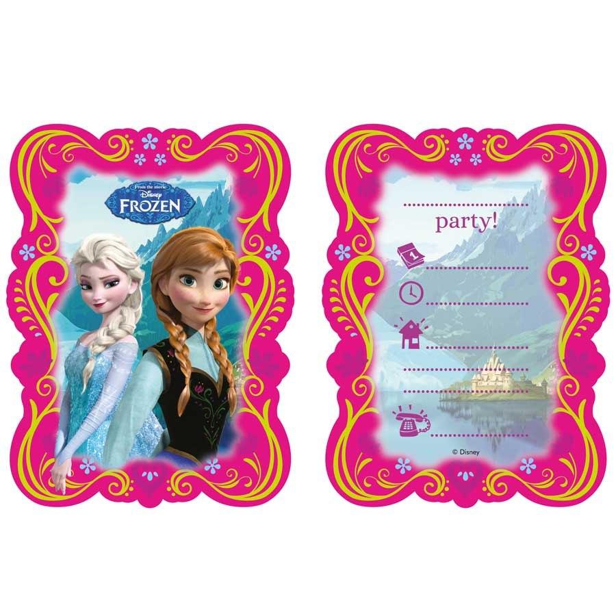 Fabuleux Blister de 6 Cartes D'invitations Anniversaire La Reine des Neiges RY82