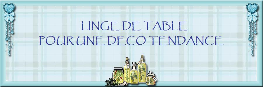 LINGE DE TABLE